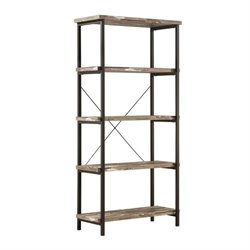Coaster Skelton 4 Shelf Modern Bookcase in Salvaged Cabin