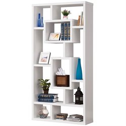 Coaster Modern Bookcase in White