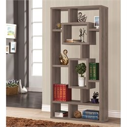Coaster Modern Bookcase in Dark Gray
