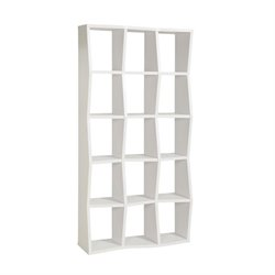 Coaster Asymmetrical Shelf Bookcase in White