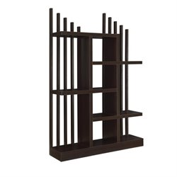 Coaster Staggered Shelf Bookcase in Cappuccino