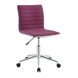 Coaster Sleek Office Chair in Purple and Chrome