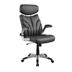 Coaster Contemporary Sleek Office Chair in Gray