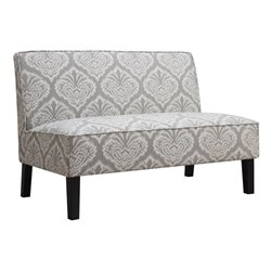 Coaster Upholstered Loveseat in Gray