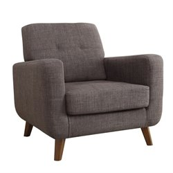 Coaster Mid Century Modern Accent Chair in Gray