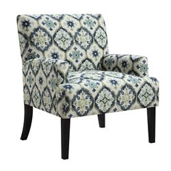 Coaster Geometric Pattern Accent Chair in Blue and Green