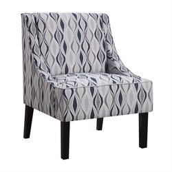 Coaster Upholstered Tight Back Accent Chair in Light Blue