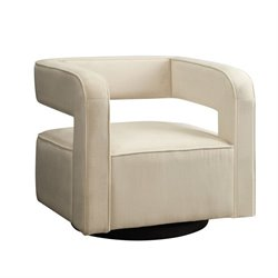 Coaster Contemporary Accent Chair in White