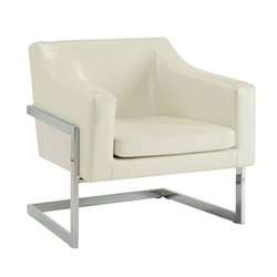 Coaster Contemporary Accent Chair with Metal Frame in White