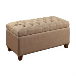 Coaster Tufted Storage Bench in Taupe