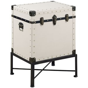 Coaster Trunk Style Accent Chest in White