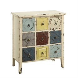 Coaster Mismatch Drawers Accent Chest in Antique White