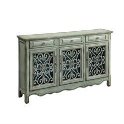 Coaster Traditional Accent Sideboard in Antique Green