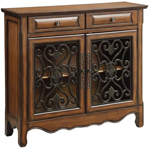 Coaster 2 Drawer Accent Chest in Brown