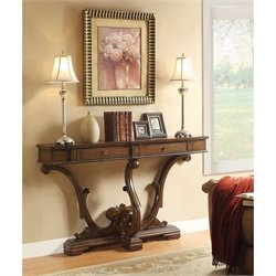 Coaster 2 Drawer Accent Console Table in Brown