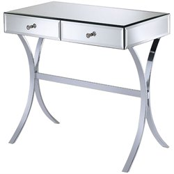 Coaster 2 Drawer Mirror Console Table in Silver