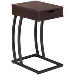 Coaster 1 Drawer End Table with Outlets in Brown