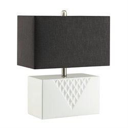 Coaster Table Lamp in Black and White