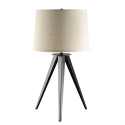 Coaster 3 Leg Base Table Lamp in Gray and Black