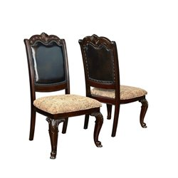 Coaster Valentina Upholstered Traditional Dining Chair in Dark Cherry