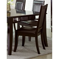 Coaster Middleton Faux Leather Dining Chair in Black