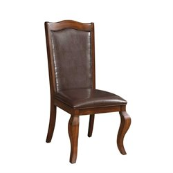 Coaster Louanna Upholstered Dining Chair in Coffee and Cherry