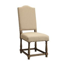 Coaster Willem Upholstered Dining Chair in Beige