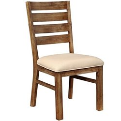Coaster Elmwood Rustic Dining Chair in Cream