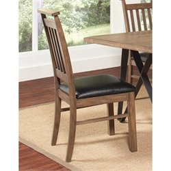 Coaster Ferguson Faux Leather Dining Chair in Black and Rustic Taupe