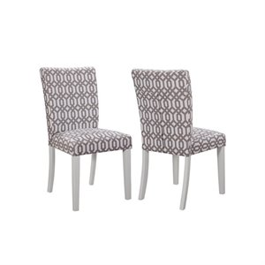 Coaster Allston Upholstered Dining Chair in White