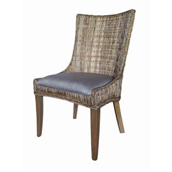 Coaster Matisse Woven Dining Chair in Gray and Gray Wash