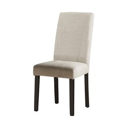 Coaster Nagel Upholstered Dining Chair in Beige and Brown