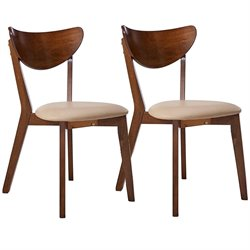 Coaster Kersey Curved Back Dining Chair in Chestnut