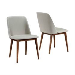 Coaster Barett Modern Dining Chair in Gray and Dark Walnut