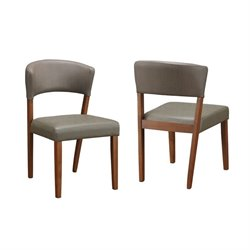 Coaster Paxton Upholstered Dining Chair in Cement and Nutmeg
