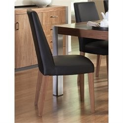 Coaster Faccini Faux Leather Dining Chair in Black and Brown