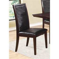 Coaster Chester Upholstered Dining Chair in Black and Brown
