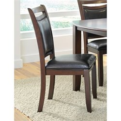 Coaster Dupree Upholstered Dining Chair in Dark Brown