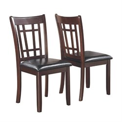 Coaster Lavon Vinyl Dining Chair in Espresso