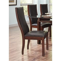 Coaster Rossine Upholstered Curved Back Dining Chair in Black