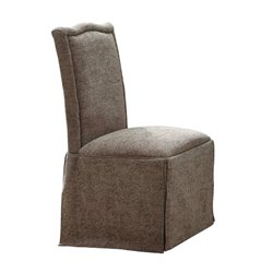 Coaster Slauson Upholstered Dining Chair with Skirt in Beige