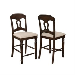 Coaster Hamilton Splat Back Dining Chair in Light Brown