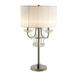 Coaster Hanging Crystal Table Lamp in White