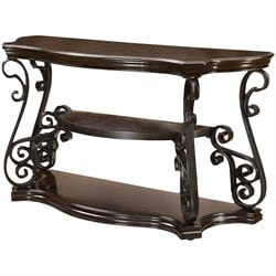 Coaster Console Table in Dark Brown