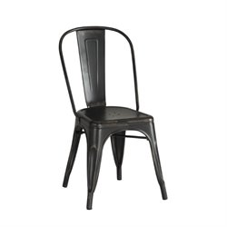 Coaster Bellevue Metal Dining Chair in Black
