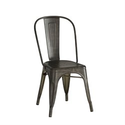 Coaster Bellevue Metal Dining Chair in Antique Brown