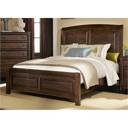 Coaster Laughton Queen Sleigh Bed in Cocoa Brown