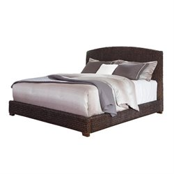 Coaster Laughton King Banana Leaf Bed in Dark Brown