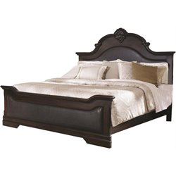 Coaster Cambridge King Upholstered Bed in Dark Cherry