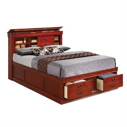 Coaster Louis Philippe Queen Bookcase Bed in Cherry